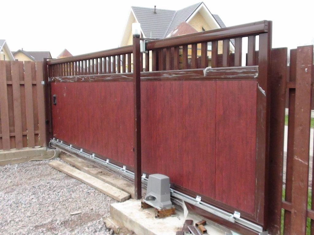 Купить откатные ворота в ижевске ограничение открывания распашных ворот